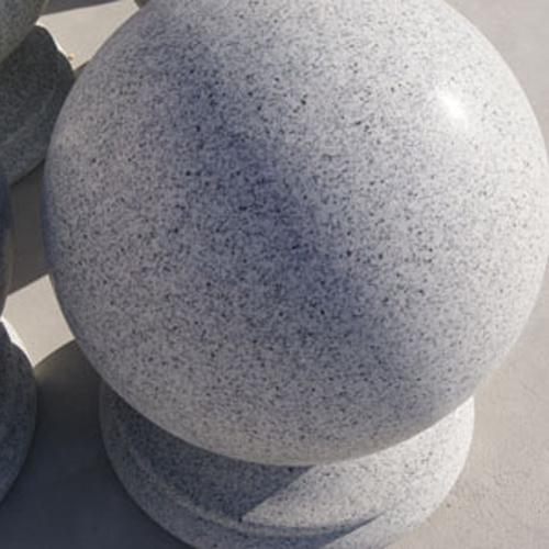 白麻石材圆球
